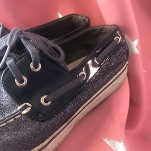 Sperry Top Siders-Blue Glitter-8